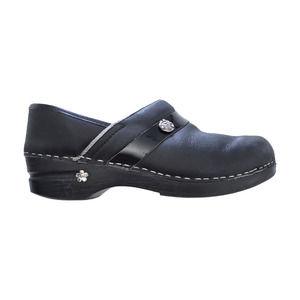 Sanita Clogs Size 39 Black Slip On Nursing Shoes